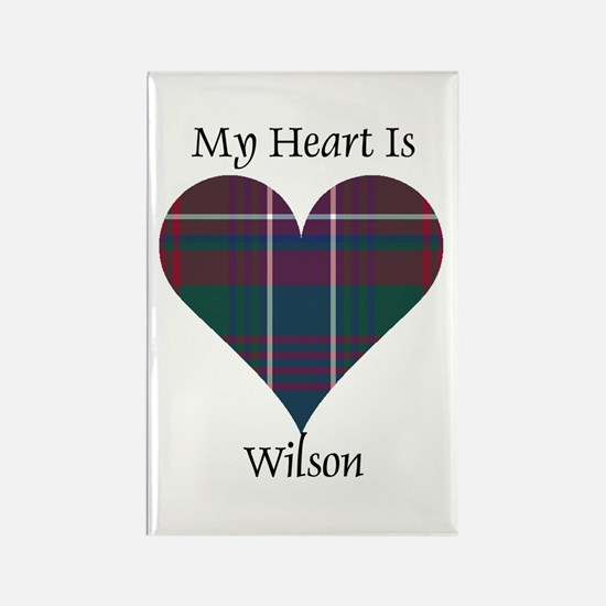 Heart-Wilson Rectangle Magnet