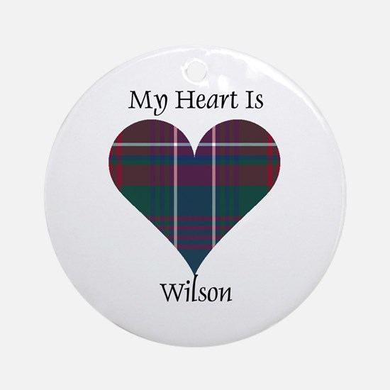 Heart-Wilson Round Ornament