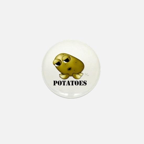 Potato Head with Toes Mini Button