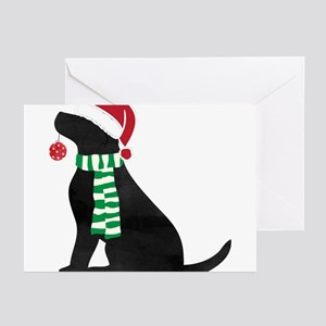 Christmas Black Lab Holiday Do Greeting Cards