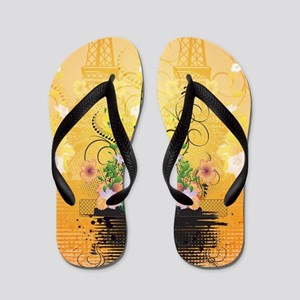 The Eiffel Tower Flip Flops