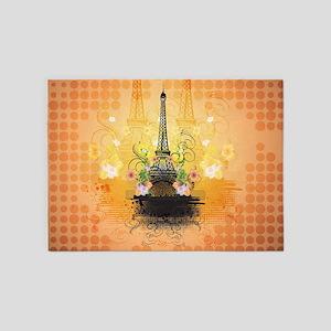 The Eiffel Tower 5'x7'Area Rug