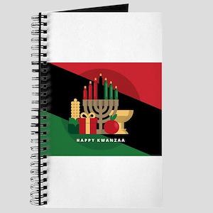 diagonal stripe Happy Kwanzaa Journal