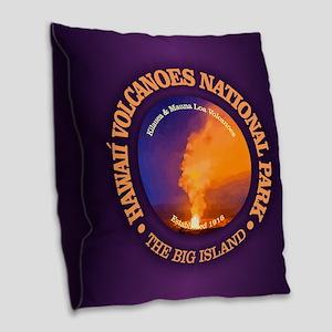 Hawaii Volcanoes NP Burlap Throw Pillow