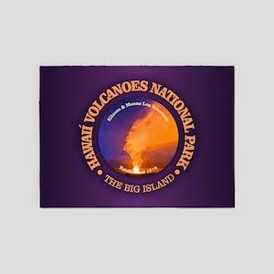 Hawaii Volcanoes NP 5'x7'Area Rug