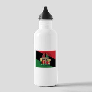 diagonal stripe Happy Stainless Water Bottle 1.0L