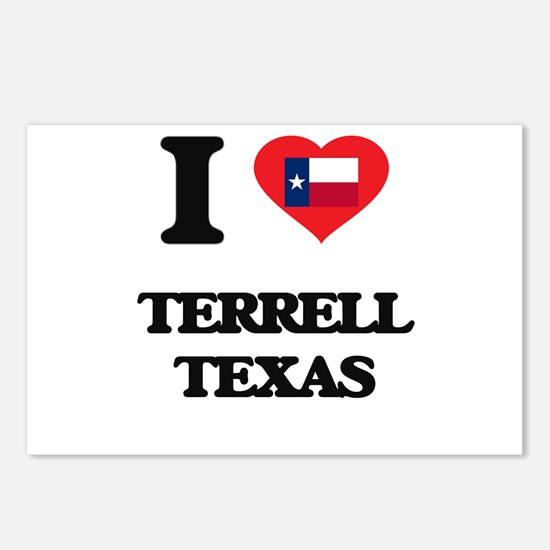 I love Terrell Texas Postcards (Package of 8)