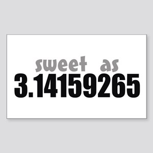 Sweet as Pi Rectangle Sticker