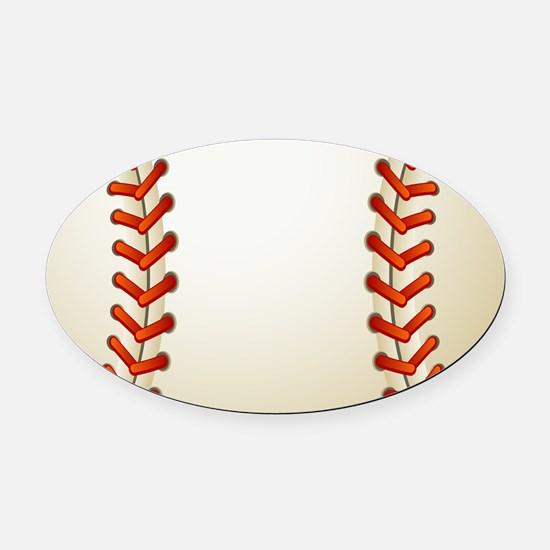 Baseball Ball Oval Car Magnet