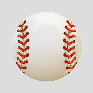 Baseball Ball Button