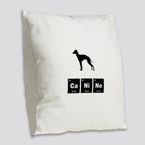 Italian Greyhound Burlap Throw Pillow