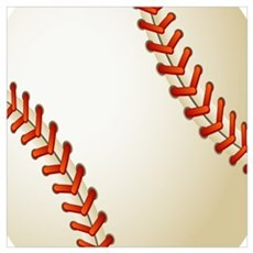 Baseball Ball Canvas Art