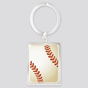 Baseball Ball Portrait Keychain