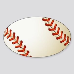 Baseball Ball Sticker (Oval)
