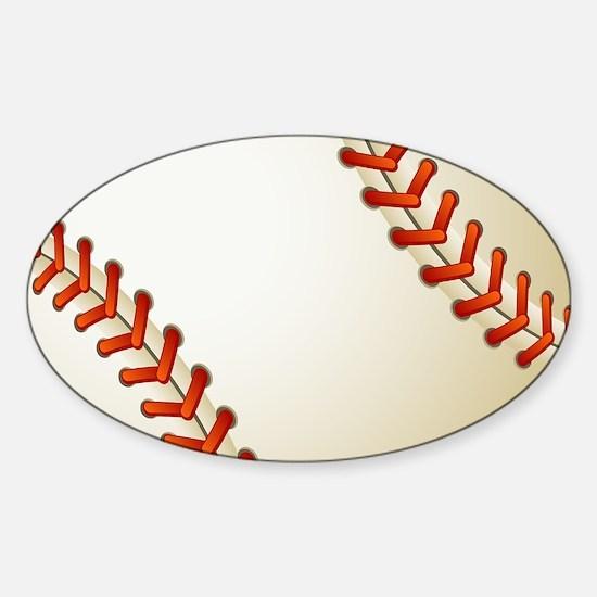 Baseball Ball Sticker (Oval)