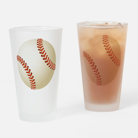 Baseball Ball Drinking Glass