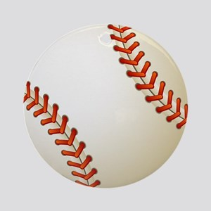 Baseball Ball Round Ornament