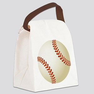 Baseball Ball Canvas Lunch Bag