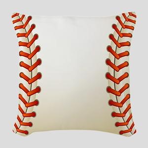 Baseball Ball Woven Throw Pillow