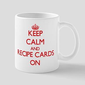 Keep Calm and Recipe Cards ON Mug