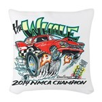 Whale Car-Toon Woven Throw Pillow