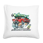 Whale Car-Toon Square Canvas Pillow