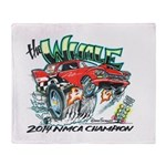 Whale Car-Toon Throw Blanket
