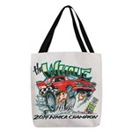 Whale Car-Toon Polyester Tote Bag