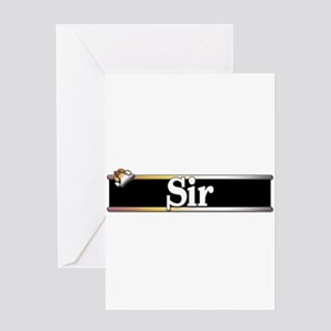 Sir Greeting Card