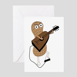 Peanut playing guitar Greeting Cards