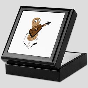 Peanut playing guitar Keepsake Box
