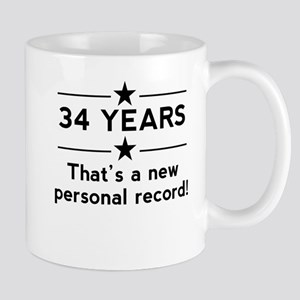34 Years New Personal Record Mugs
