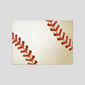 Baseball Ball 5'x7'Area Rug