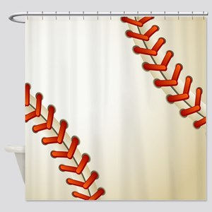 Baseball Ball Shower Curtain
