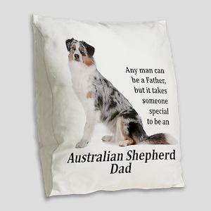 Aussie Dad Burlap Throw Pillow