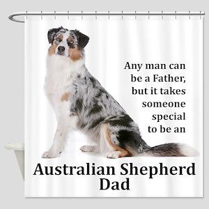 Aussie Dad Shower Curtain