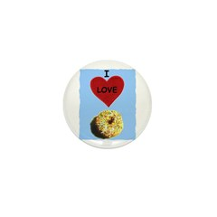 I LOVE DONUTS Mini Button (10 pack)