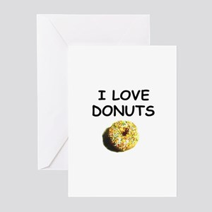 I LOVE DONUTS BUT .. Greeting Cards (Pk of 10)