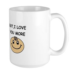 I LOVE DONUTS BUT I LOVE YOU MORE Large Mug