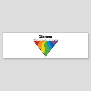 Savana: Proud Lesbian Bumper Sticker