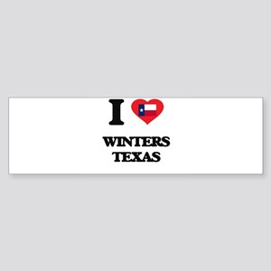 I love Winters Texas Bumper Sticker