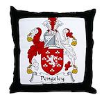 Pengeley Family Crest Throw Pillow
