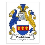 Pendleton Family Crest Small Poster