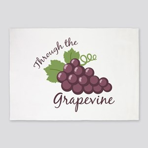 Through the grapevine 5'x7'Area Rug