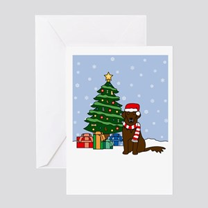 Flat Coat Season's Best Greeting Card