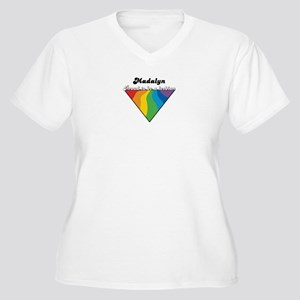 Madalyn: Proud Lesbian Women's Plus Size V-Neck T-