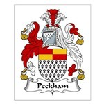 Peckham Family Crest Small Poster