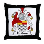 Peckham Family Crest Throw Pillow