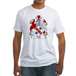 Peat Family Crest  Fitted T-Shirt