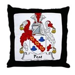 Peat Family Crest Throw Pillow